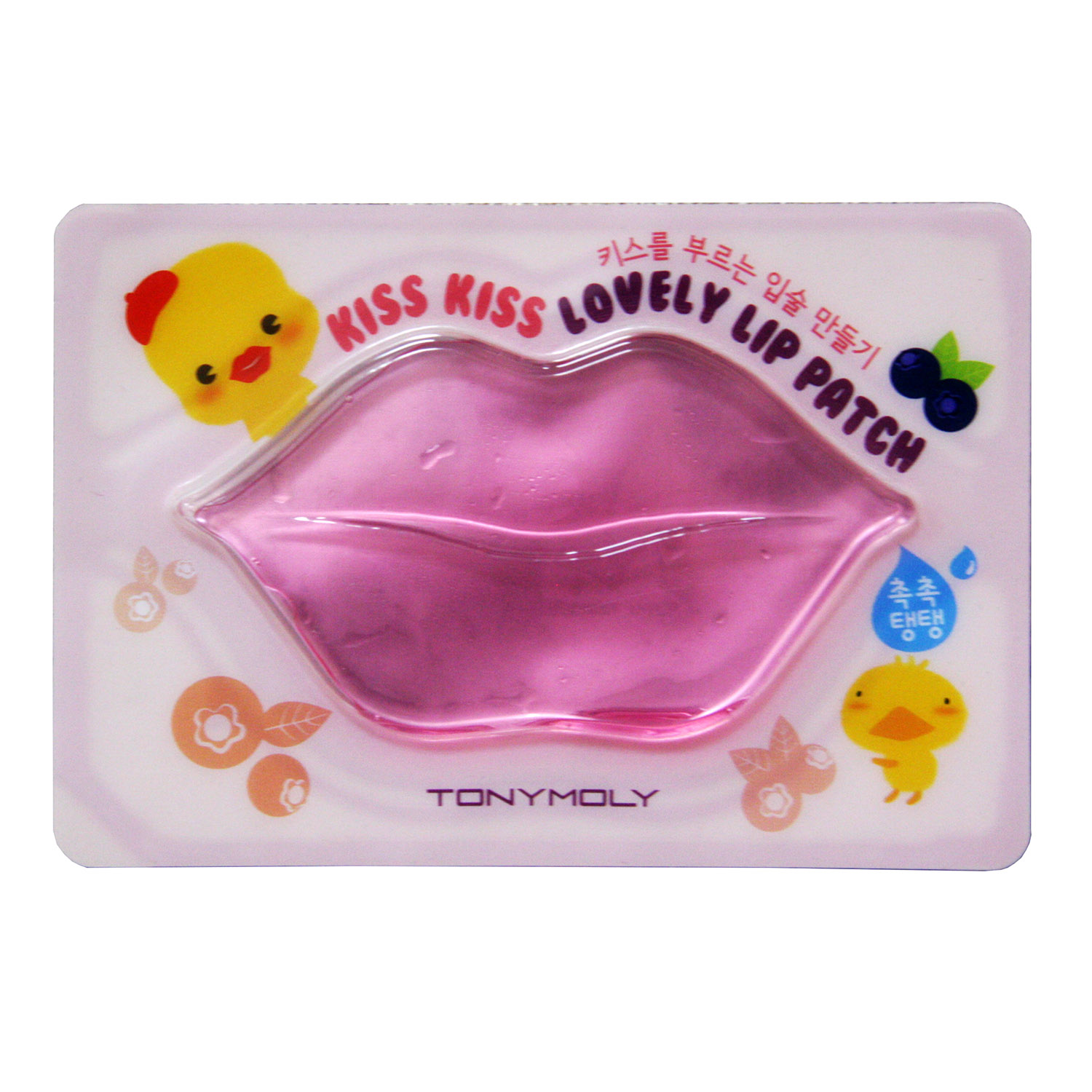 TONY MOLY Маска гидрогелева для губ 10гр Kiss Kiss Lovely Lip Patch